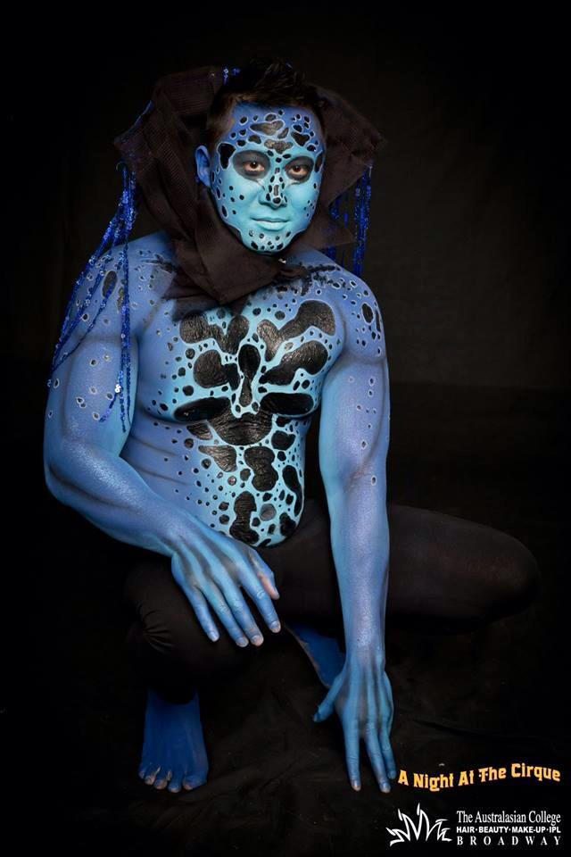 poison frog body paint