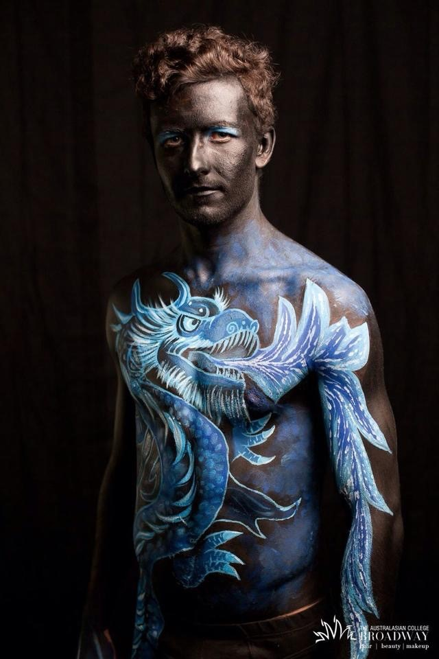 Chinese dragon body paint