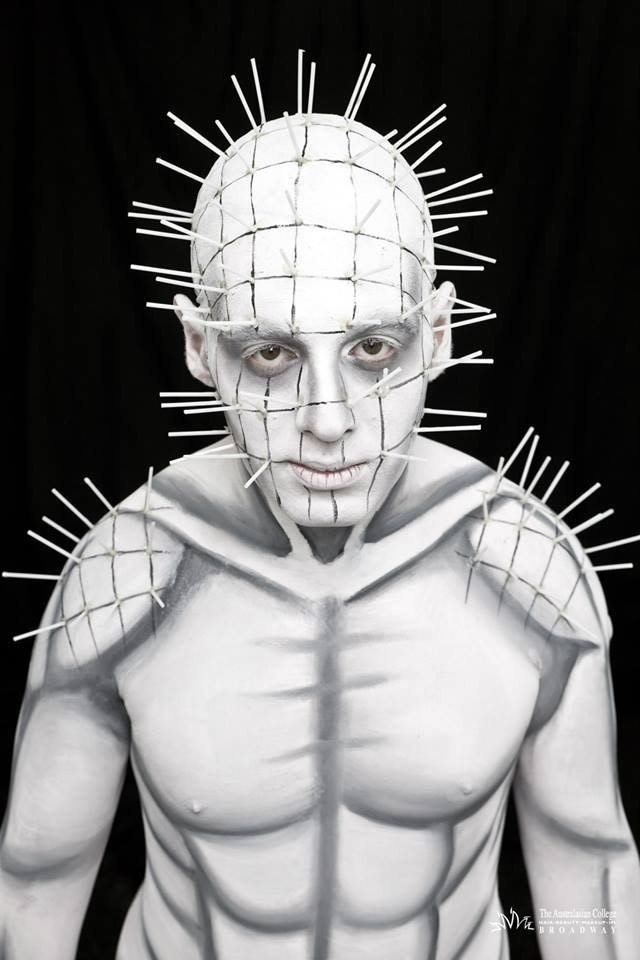 Pinhead inspired body paint