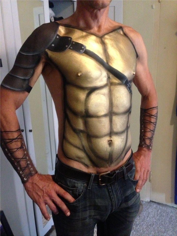Roman warrior body paint
